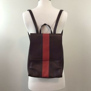 Urban Outfitters Burgundy Backpack Red Stripe